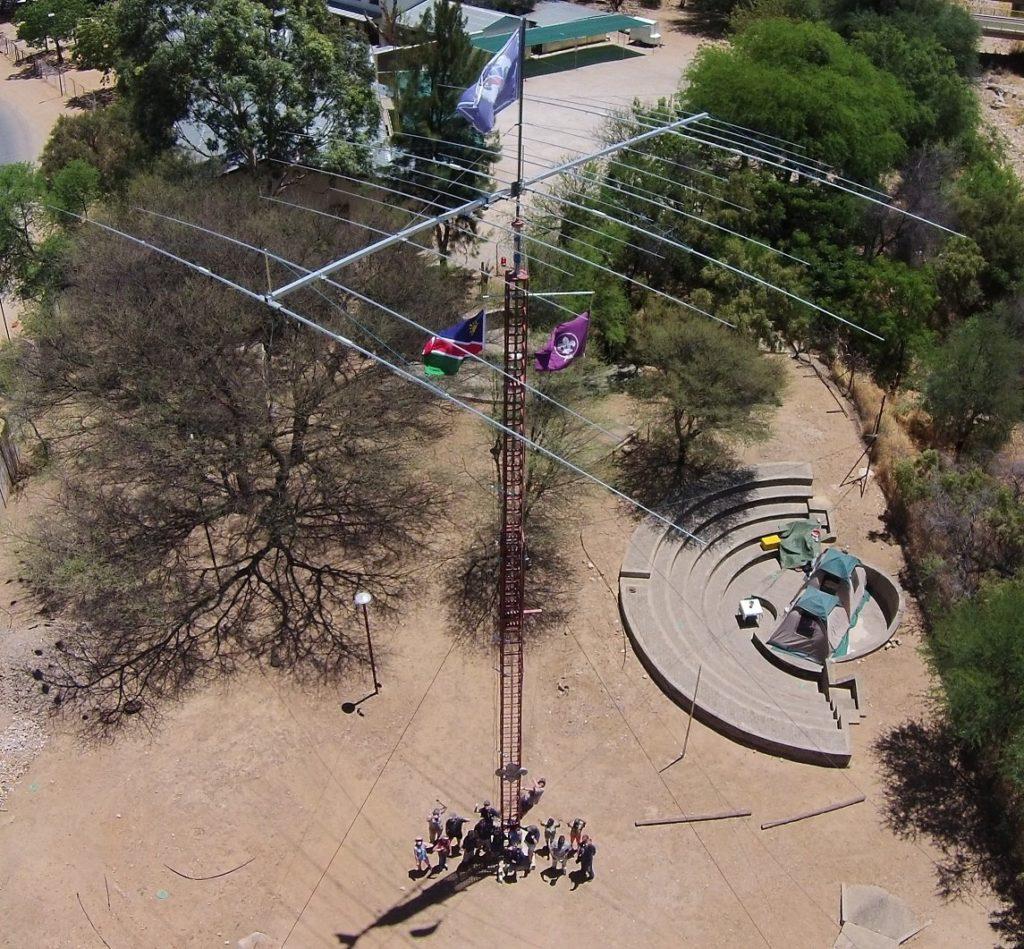 Die drehbare Kurzwellen-Antenne in Namibia ist auch wirklich etwas ganz besonderes und funktioniert auch bei nicht so guten Bedingungen hervorragend
